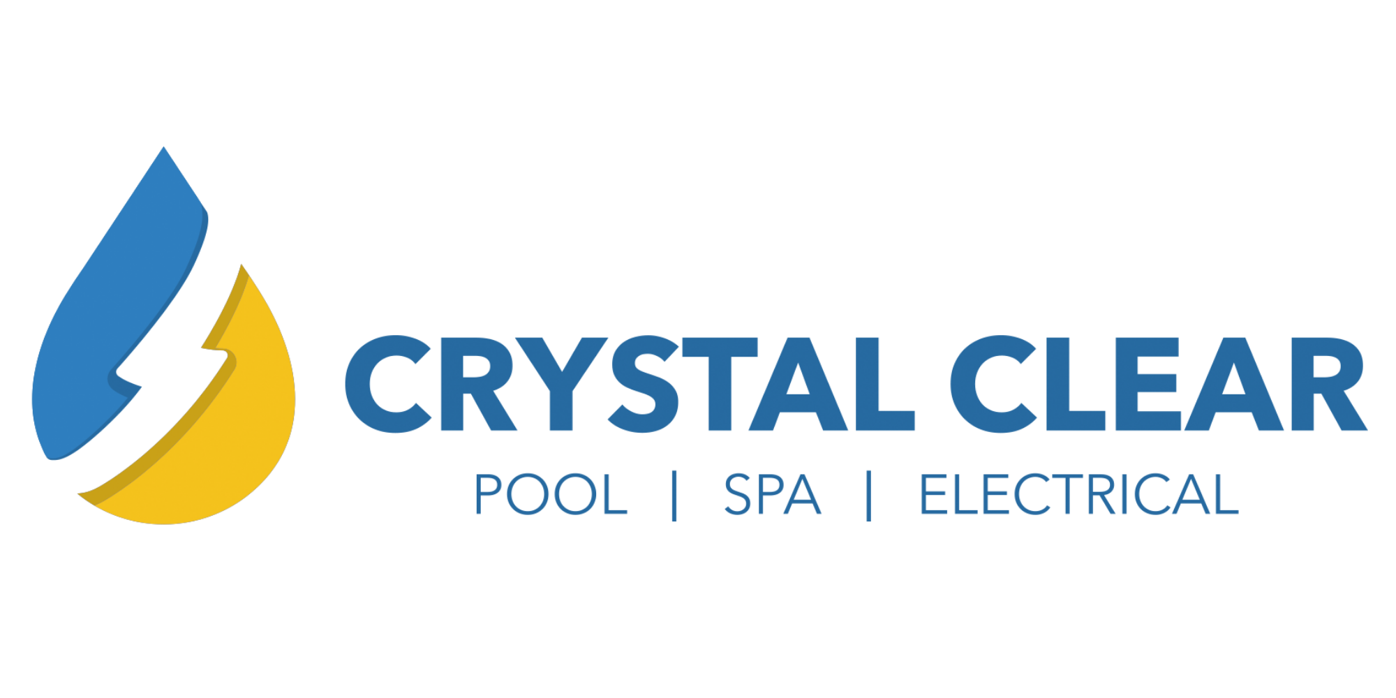 Crystal Clear Pool Spa Electrical Logo on white background