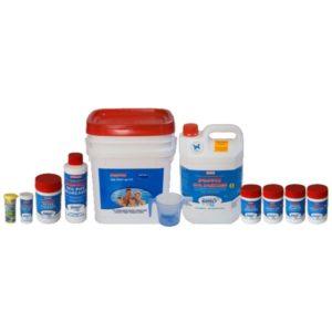 Poppit Spa Sanosil Start Up kit with white back ground
